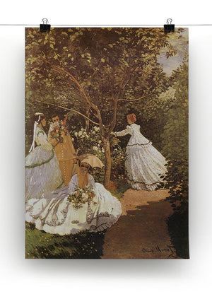 Femmes au jardin 1867 by Monet Canvas Print & Poster - Canvas Art Rocks - 2