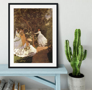 Femmes au jardin 1867 by Monet Framed Print - Canvas Art Rocks - 1