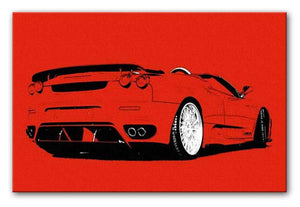 Red Ferrari Print - Canvas Art Rocks