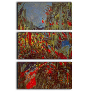 Festivities by Monet 3 Split Panel Canvas Print - Canvas Art Rocks - 1