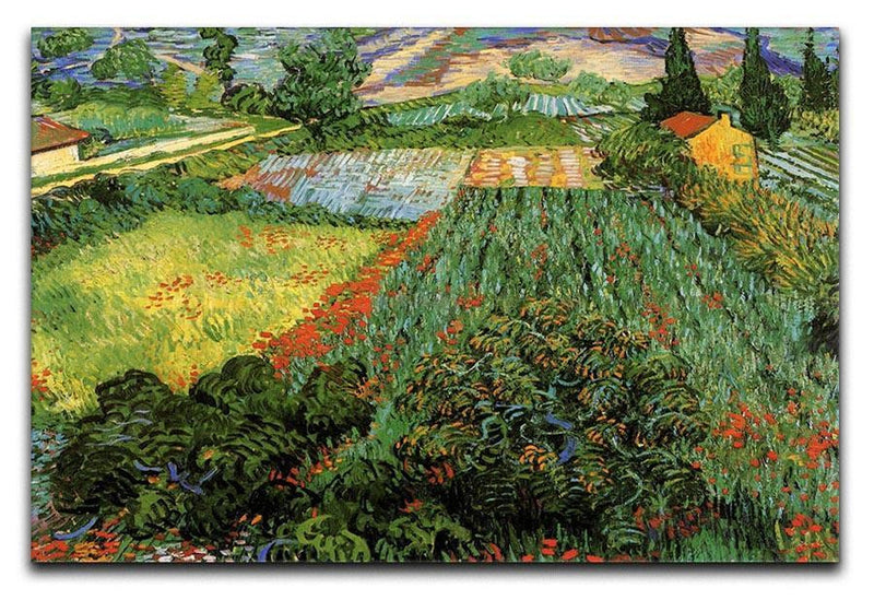 Field with Poppies by Van Gogh Canvas Print & Poster  - Canvas Art Rocks - 1