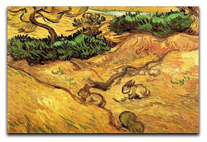 Field with Two Rabbits by Van Gogh Canvas Print & Poster  - Canvas Art Rocks - 1