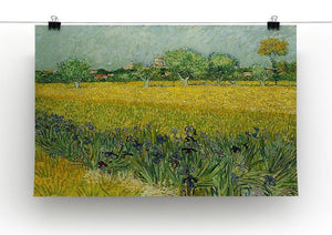 Field with flowers near Arles Canvas Print & Poster - Canvas Art Rocks - 2
