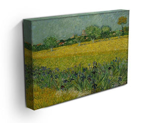 Field with flowers near Arles Canvas Print & Poster - Canvas Art Rocks - 3