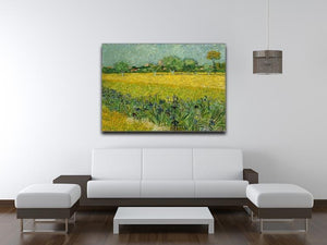 Field with flowers near Arles Canvas Print & Poster - Canvas Art Rocks - 4
