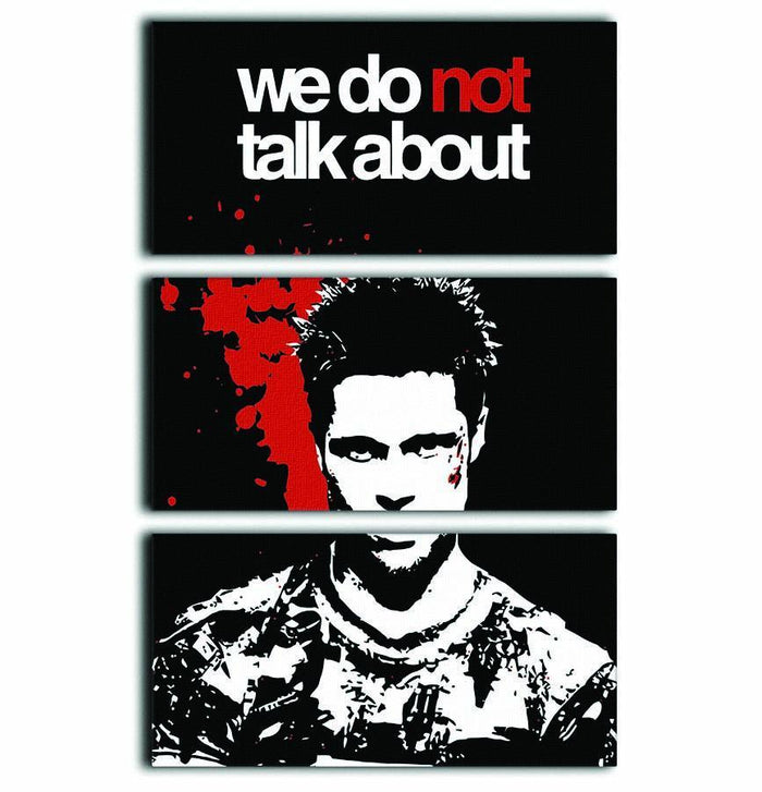Fight Club We Do Not 3 Split Panel Canvas Print