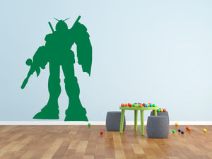 Fighter Robot Wall Decal - Canvas Art Rocks - 1