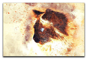 Fire Cat Painting Canvas Print or Poster  - Canvas Art Rocks - 1