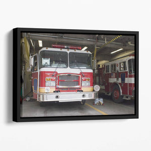 Fire Truck Floating Framed Canvas