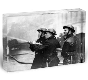 Firefighters morning after air raids London Acrylic Block - Canvas Art Rocks - 1