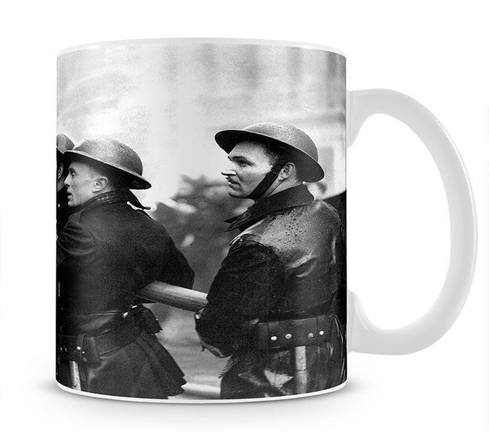 Firefighters morning after air raids London Mug