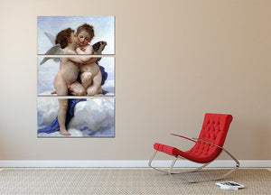 First Kiss By Bouguereau 3 Split Panel Canvas Print - Canvas Art Rocks - 2