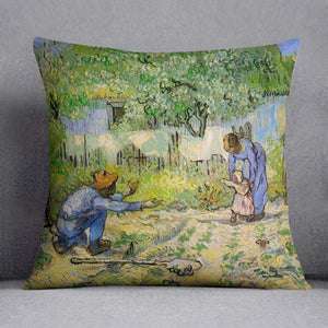 First Steps by Van Gogh Throw Pillow