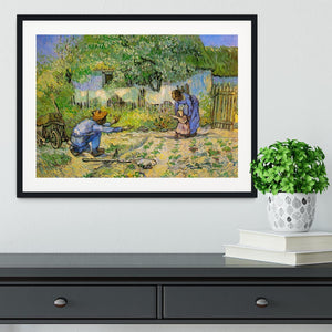 First Steps by Van Gogh Framed Print - Canvas Art Rocks - 1