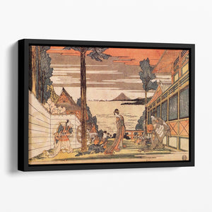 First act by Hokusai Floating Framed Canvas