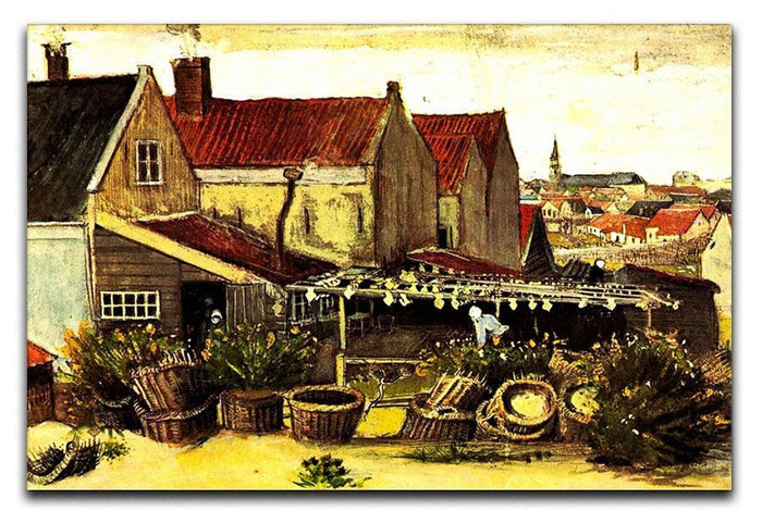 Fish-Drying Barn by Van Gogh Canvas Print or Poster