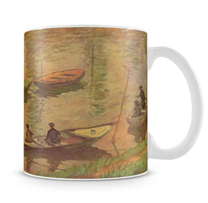 Fishermen on the Seine at Poissy by Claude_Monet Mug - Canvas Art Rocks - 4
