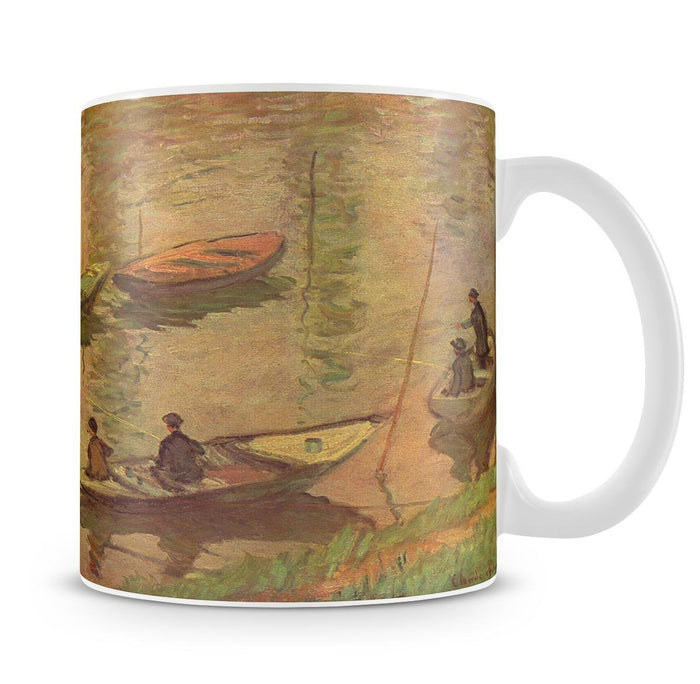 Fishermen on the Seine at Poissy by Claude_Monet Mug