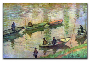 Fishermen on the Seine at Poissy by Monet Canvas Print & Poster  - Canvas Art Rocks - 1