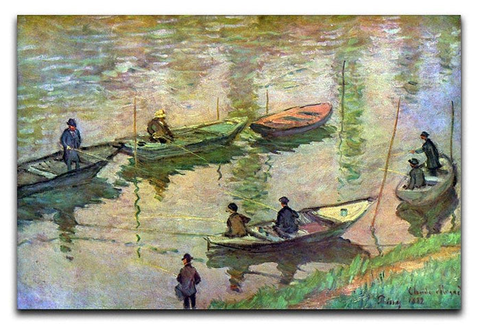 Fishermen on the Seine at Poissy by Monet Canvas Print or Poster