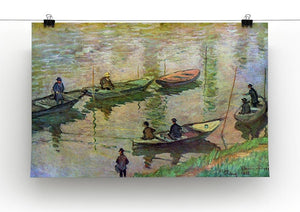 Fishermen on the Seine at Poissy by Monet Canvas Print & Poster - Canvas Art Rocks - 2