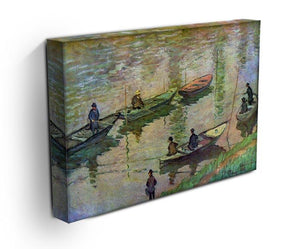 Fishermen on the Seine at Poissy by Monet Canvas Print & Poster - Canvas Art Rocks - 3