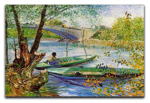 Fishing in Spring by Van Gogh Canvas Print & Poster  - Canvas Art Rocks - 1