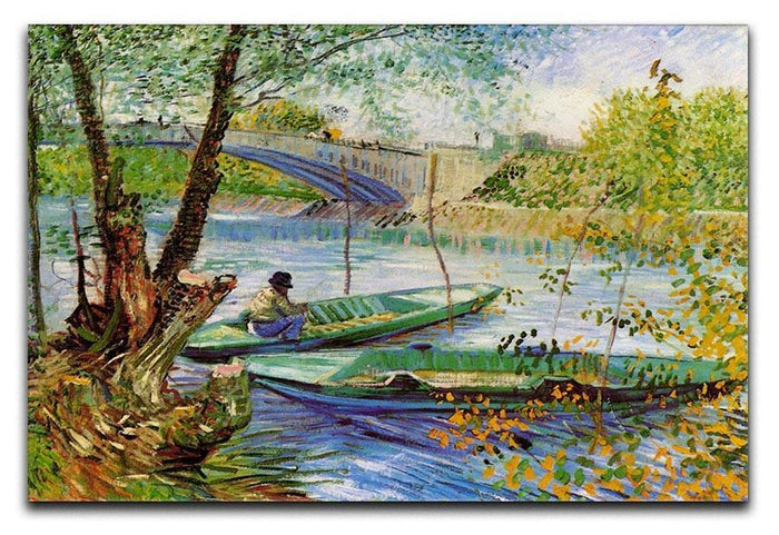 Fishing in Spring by Van Gogh Canvas Print or Poster