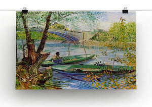 Fishing in Spring by Van Gogh Canvas Print & Poster - Canvas Art Rocks - 2