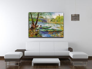 Fishing in Spring by Van Gogh Canvas Print & Poster - Canvas Art Rocks - 4