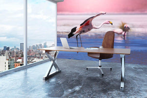 Flamingo in Bolivia Wall Mural Wallpaper - Canvas Art Rocks - 3