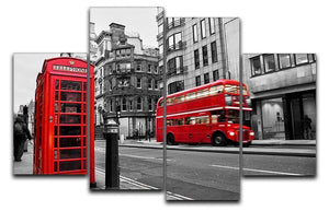 Fleet street London 4 Split Panel Canvas  - Canvas Art Rocks - 1