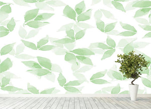 Floral background Wall Mural Wallpaper - Canvas Art Rocks - 4