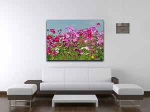 Flower field with blue sky Canvas Print or Poster - Canvas Art Rocks - 4