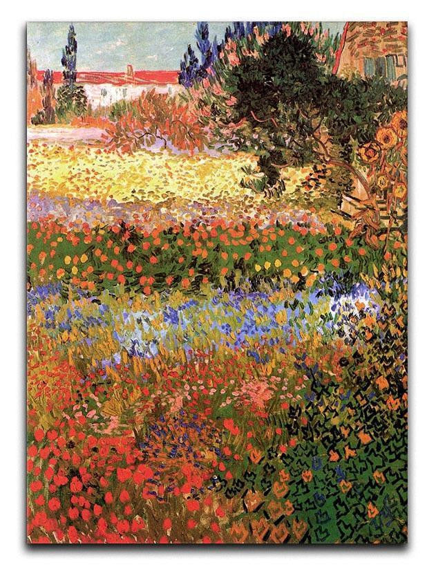 Flowering Garden by Van Gogh Canvas Print or Poster