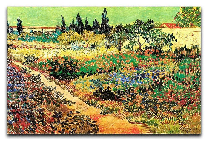 Flowering Garden with Path by Van Gogh Canvas Print or Poster