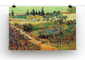 Flowering Garden with Path by Van Gogh Canvas Print & Poster - Canvas Art Rocks - 2