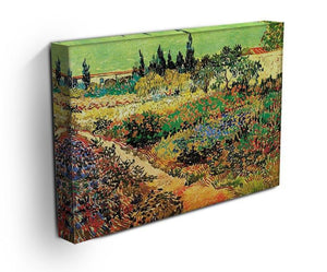 Flowering Garden with Path by Van Gogh Canvas Print & Poster - Canvas Art Rocks - 3