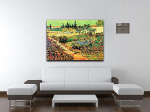 Flowering Garden with Path by Van Gogh Canvas Print & Poster - Canvas Art Rocks - 4