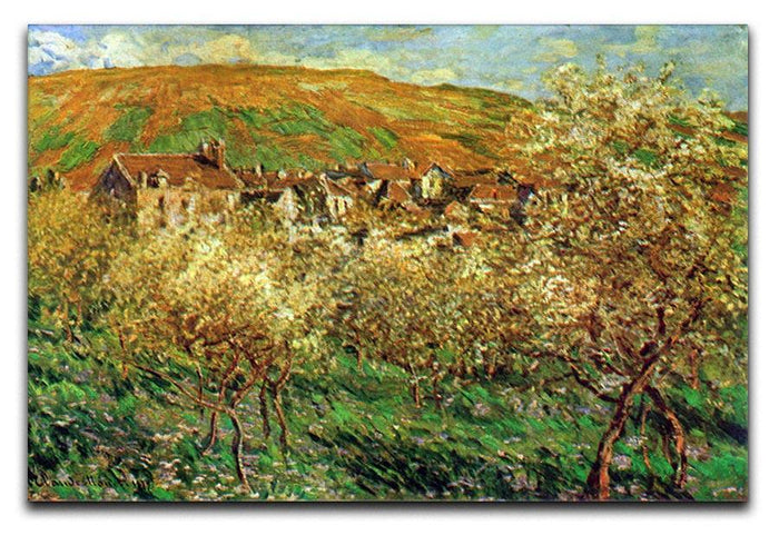 Flowering apple trees by Monet Canvas Print or Poster