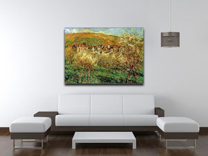 Flowering apple trees by Monet Canvas Print & Poster - Canvas Art Rocks - 4