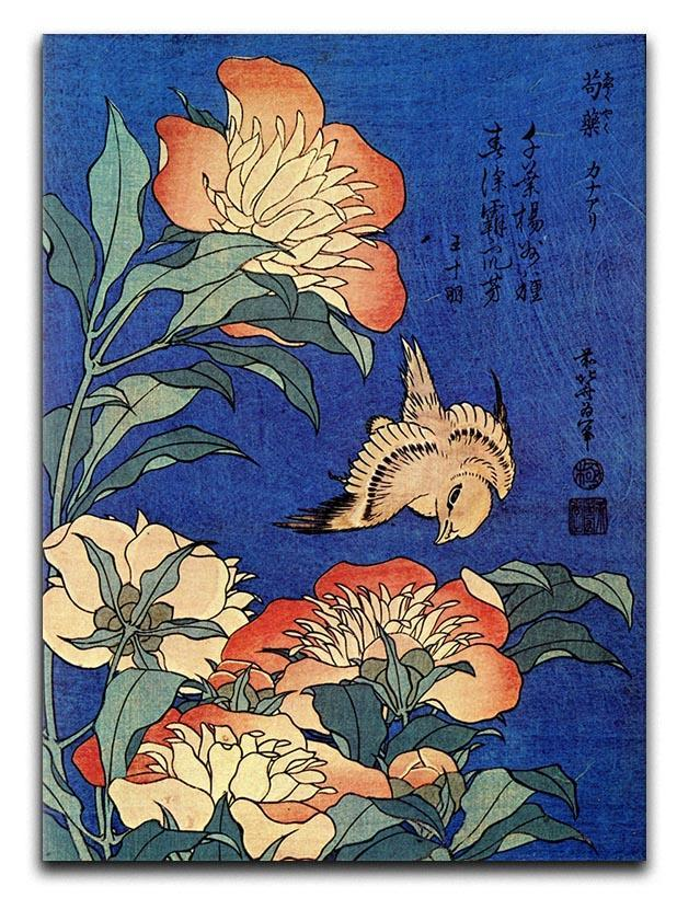 Flowers by Hokusai Canvas Print or Poster