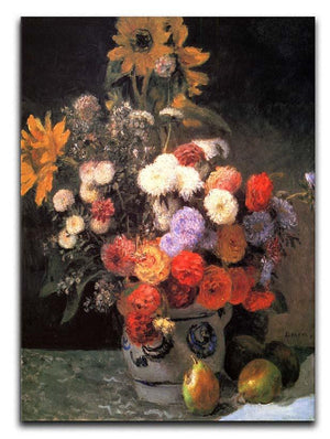 Flowers in a vase by Renoir Canvas Print or Poster  - Canvas Art Rocks - 1