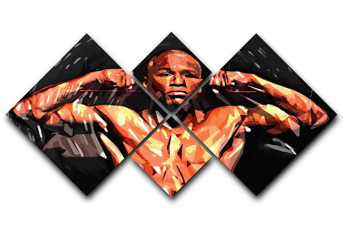 Floyd Mayweather 4 Square Multi Panel Canvas
