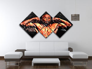 Floyd Mayweather 4 Square Multi Panel Canvas - Canvas Art Rocks - 3