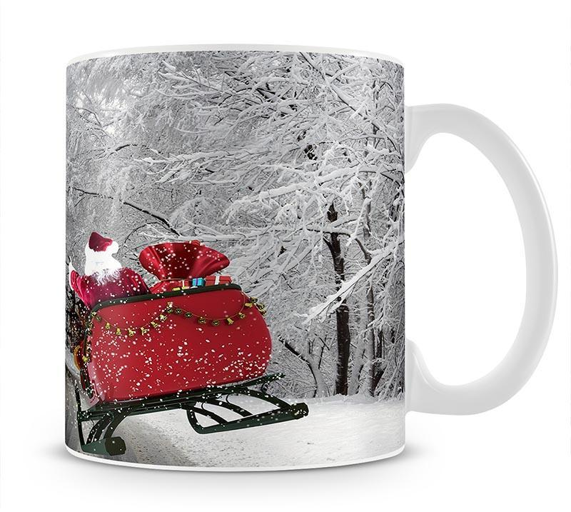 Flying Santa Mug - Canvas Art Rocks - 1