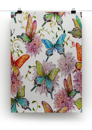 Flying butterflies Canvas Print or Poster - Canvas Art Rocks - 2