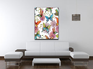 Flying butterflies Canvas Print or Poster - Canvas Art Rocks - 4