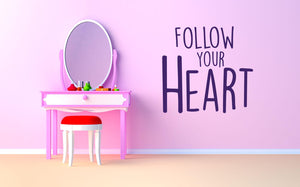 Follow Your Heart Wall Decal - Canvas Art Rocks - 1