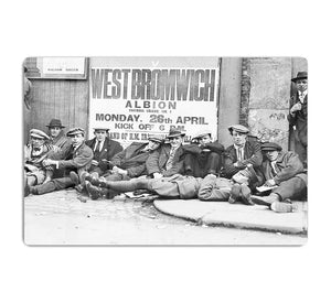 Football fans queue on the morning of a F.A. Cup match 1920 HD Metal Print - Canvas Art Rocks - 1